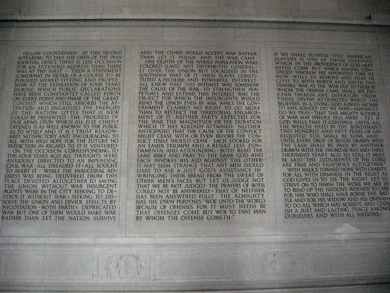 Lincoln Memorial (ca. 1922) - 2nd Inaugural Address