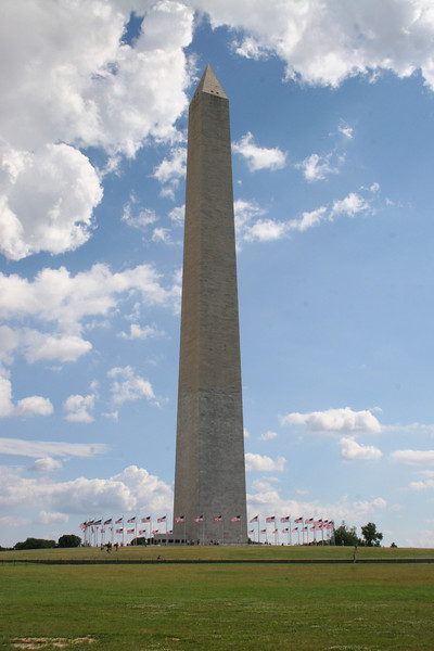 "Washington Monument (ca. 1848-1884) - Stands 555' 5 1/8"" tall"