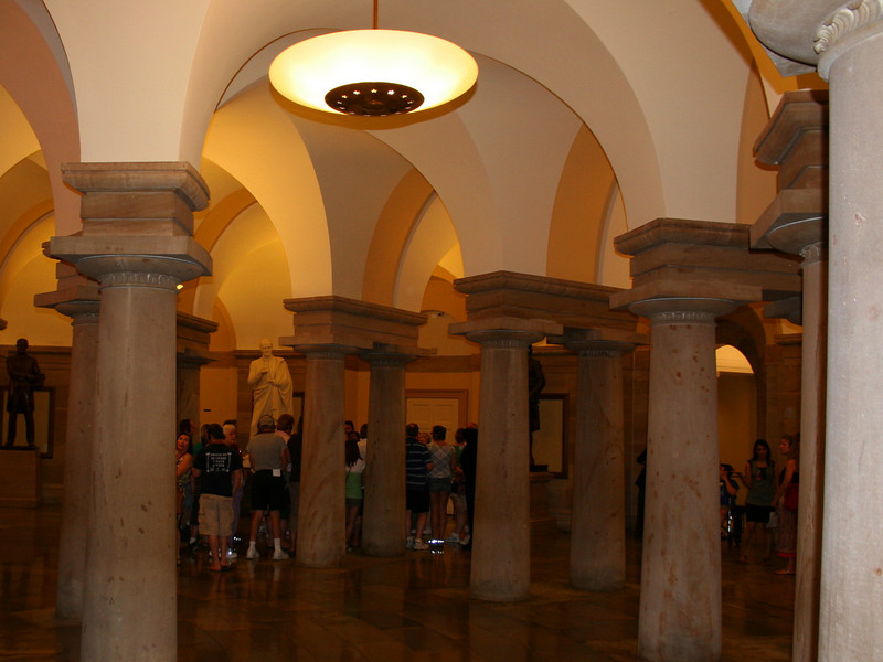 U.S. Capitol - Crypt below the rotunda (it was never used as such)