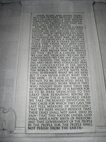 Lincoln Memorial (ca. 1922) - Gettysburg Address