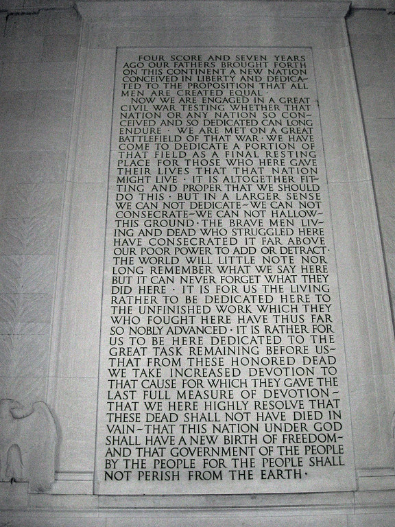 Lincoln Memorial (ca. 1922) - Gettysburg Address