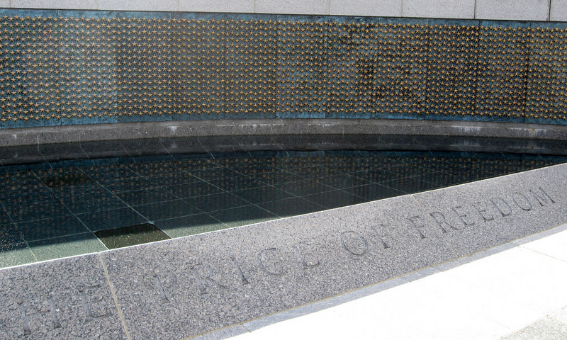 U.S. National World War II Memorial (ca. 2004) - Each of the 4,000 stars represents approx. 100 men killed in the war.
