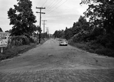 Looking east on Emerson Street from Old St. Augustine Road on May 7, 1953. State Archives of Florida, Florida Memory, http://floridamemory.com/items/show/104592
