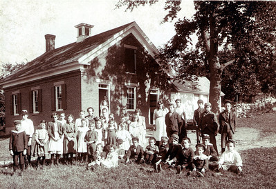 School House #1 This picture is circa 1899. School House number 1 was dedicated in 1851 and stands on the corner of Hardy and Pillsbury Roads. It was once part of the Hardy Homestead. It still stands today but is now a private residence.