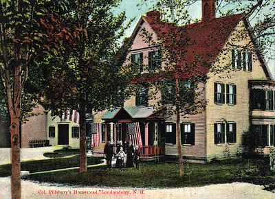 Pillsbury Homestead The Pillsbury Homestead belonged to Colonel William S. Pillsbury. Colonel Pillsbury was born on March 16, 1833 and began a career as a shoemaker at the age of 14. By age 20, he was superintendent of the shoe factory. Eventually, he owned his own business in Londonderry and Derry Depot. He was a dedicated Union Soldier during the Civil War. After the war, he married Martha Silver Crowell on April 15, 1865, and together they had 4 children: Rosecrans, Charles, Harriet and Ulysses. He also held a number of public offices at state and local levels. The homestead is still located on Pillsbury Road in Londonderry.