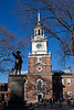 Commodore John Barry Statue and Independence Hall