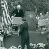 General Corderman, Karl Fox (behind microphone pole), Freeholder Joseph Irwin, Dr. Ervin Harlacker