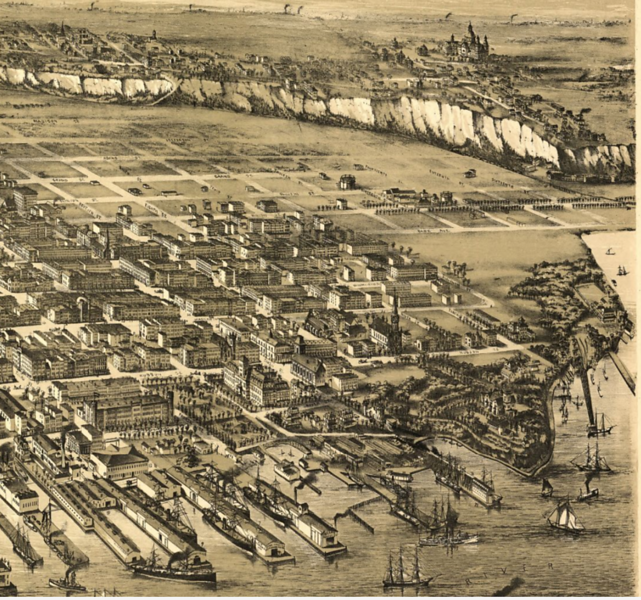 Map of Hoboken NJ, 1881, from Library of Congress