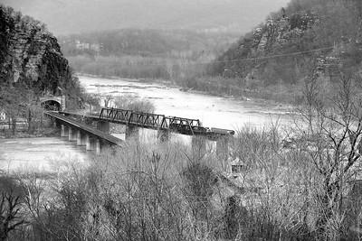 Train Derailment From Hilltop Hotel, Harper's Ferry - West Virginia