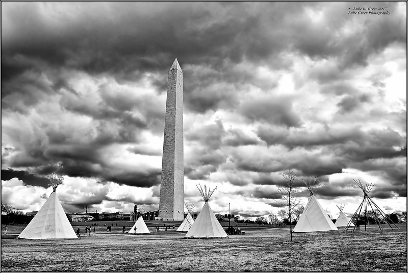 Sioux Tipi Camp, The Washington Monument : Native Nations Rise March : 2017