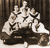 Believe it or not, Chadron State Normal had a girls basketball team in 1917.  The players, in front from left, are Orpha Carmean, Bess Remender and Marguerite Morrissey.  In the back are Ruth Sweeney, Clair Gordon and Vivian Heiser.  Bess Remender's grandson, Cactus Shumway, was a baseball player at CSC in the early 1970s and gave the Ivy Day oration in 1972.