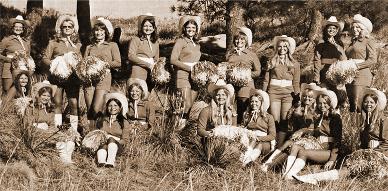 "The scenery was extra good at Chadron State College for several years during the early 1970s, when Harry Simonton organized the ""Eaglettes,"" who performed at halftime of athletic events and for other special occasions."