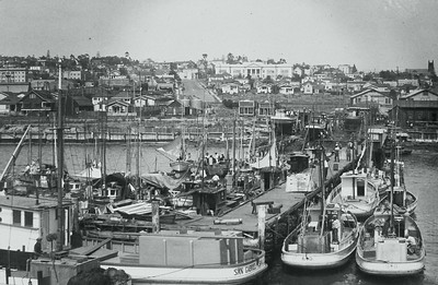 Looking East towards Little Italy from the San Diego Bay - Circa 1943