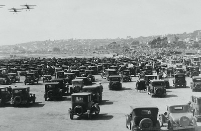 Mission Beach - Circa 1920's.  Courtesy of the Palestini Family.