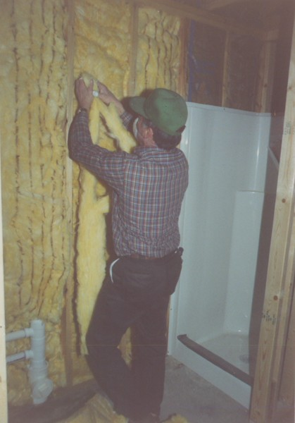 January 13 - 16 men from Archbold EMC come up to put up the insulation in Woodlands.
