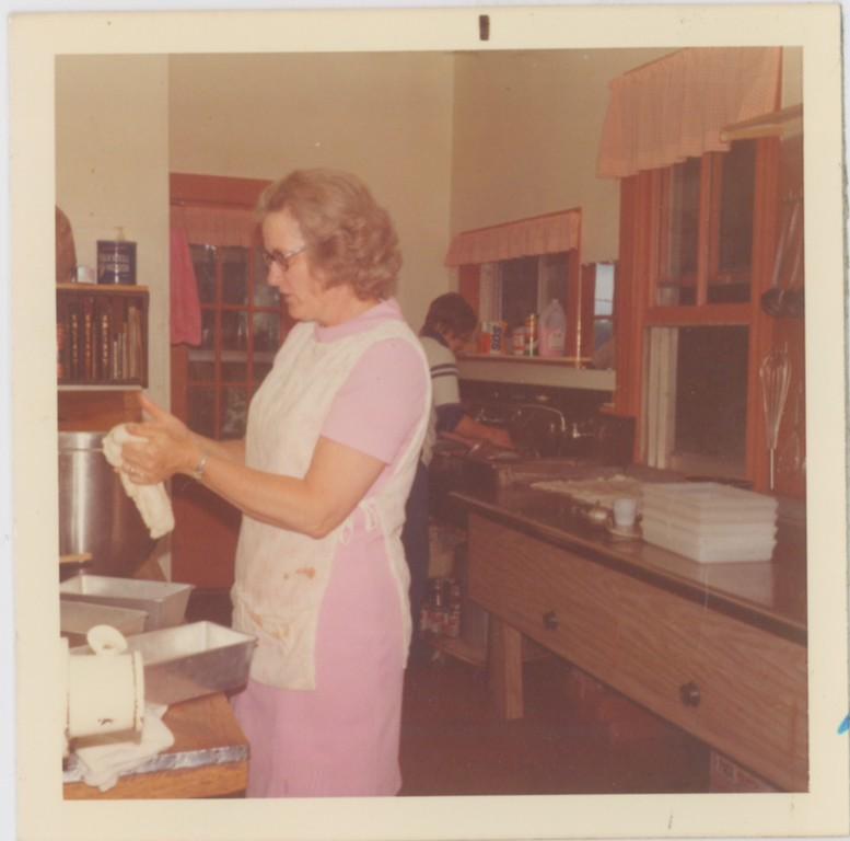 Dorine Smith making bread, June 28, 1973.