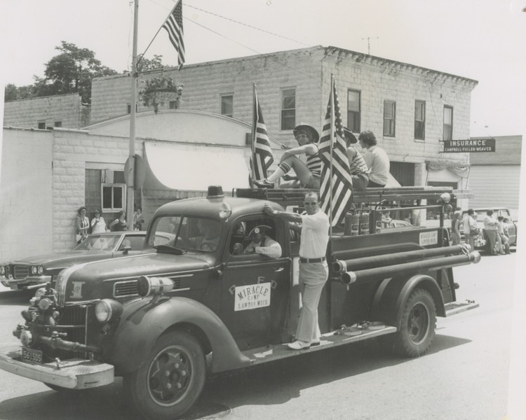 The camp truck in the Lawton 4th of July parade.  Sometime in the 1960's.