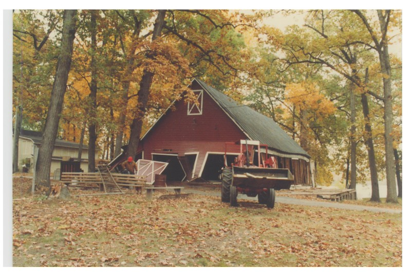 The Red Barn comes down - November 1983