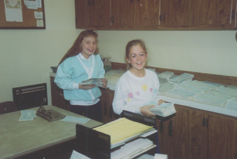 Melissa Maneikis and Renee Zedeck help me in the office.