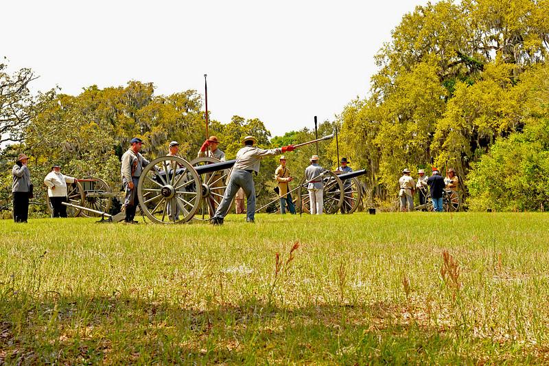 Civil War Re-enactors at Hofwyl-Broadfield Plantation 04-16-10