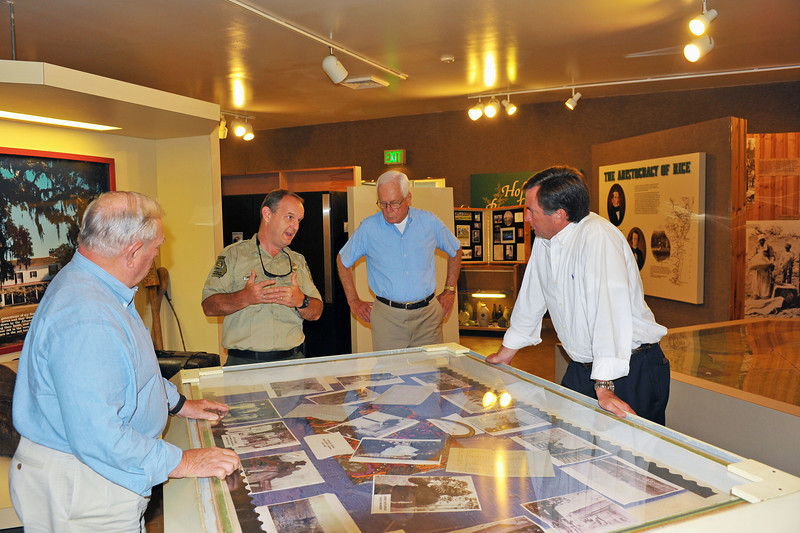 Hofwyl-Broadfield Plantation - Visit by DNR Commissioner Mark Williams and Glynn County Commissioner Clyde Taylor along with Friends of Hofwyl Board of Directors Jack and Jeanne McConnell and Park Superindendent Bill Giles 08-22-12