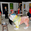 "Ed Hose exhibit at Gallery 209 in downtown Brunswick, Georgia - includes Friends of Hofwyl-Broadfield Plantation Humane Society Fundraiser ""Dawg"" being painted by Ed Hose"