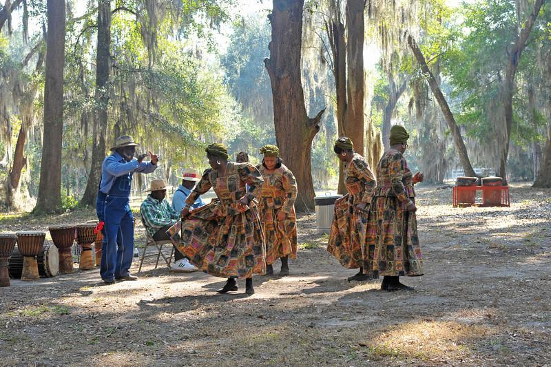 Black History Day 02-19-11 at Hofwyl-Broadfield Plantation near Brunswick, Georgia in Glynn County showcasing Briama Mowai and also The McIntosh County Shouters