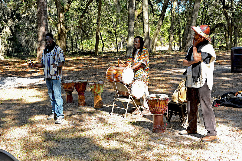 Hofwyl-Broadfield Plantation 02-20-10 Black History Day with Braima Moiwai, native of Sierra Leone and also the Darien Shouters