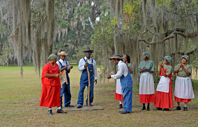 Celebrate Hofwyl Day 11-21-09 Presentation celebrating 30 years of State ownership and Ophelia Dent's 123rd Birthday - Darien Shouters put on a Wonderful Show!