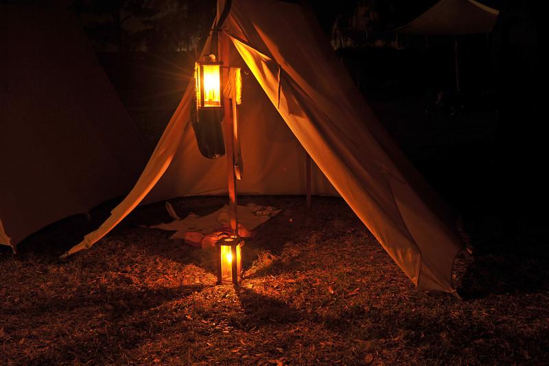 Hofwyl-Broadfield Christmas 12-05-09 - Night time encampment by Civil War Re-enactors