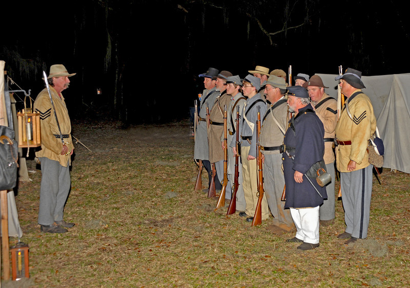 Hofwyl-Broadfield Christmas 12-05-09 - Night time drill by Civil War Re-enactors