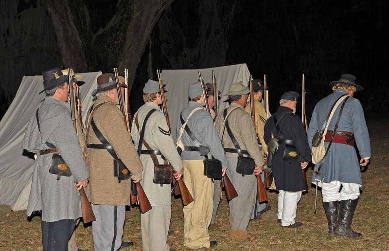 Hofwyl-Broadfield Christmas 12-05-09 - Night time drill by Civil War Re-enactors
