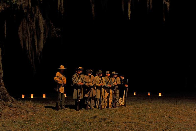 Hofwyl-Broadfield Christmas 12-05-09 - Night time Civil War Re-enactors