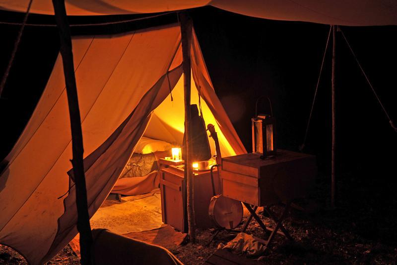 Hofwyl-Broadfield Christmas 12-05-09 - Night time encampmenet<br />  by Civil War Re-enactors