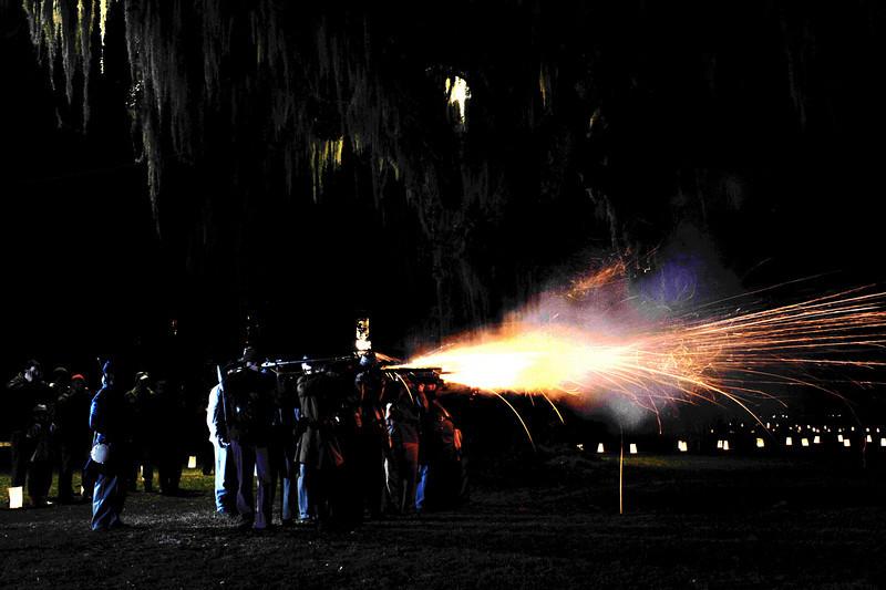Hofwyl-Broadfield Plantation - Christmas 2010 Civil War Re-enactment 12-03-10