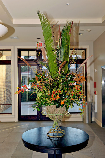 Flower arraignment which greeted quests in the atrium - Thanks Jeanne-Earle McConnell!
