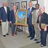 L to R: Gordon Strother, Jack McConnell, Mayor Bryan Thompson, Commissioner Jerome Clark, Jeanne-Earle McConnell