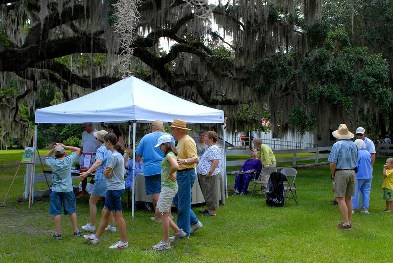 Hofwyl Plantation - Brunswick, Georgia - Go Georgia Day - Friends of Hofwyl Tent