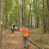 Free Park Day Volunteers at Hofwyl-Broadfield Plantation near Brunswick, Georgia cleaning up Miriam Trail - Thank you Girl Scouts, Boy Scouts, and our wonderful Volunteers 09-29-12