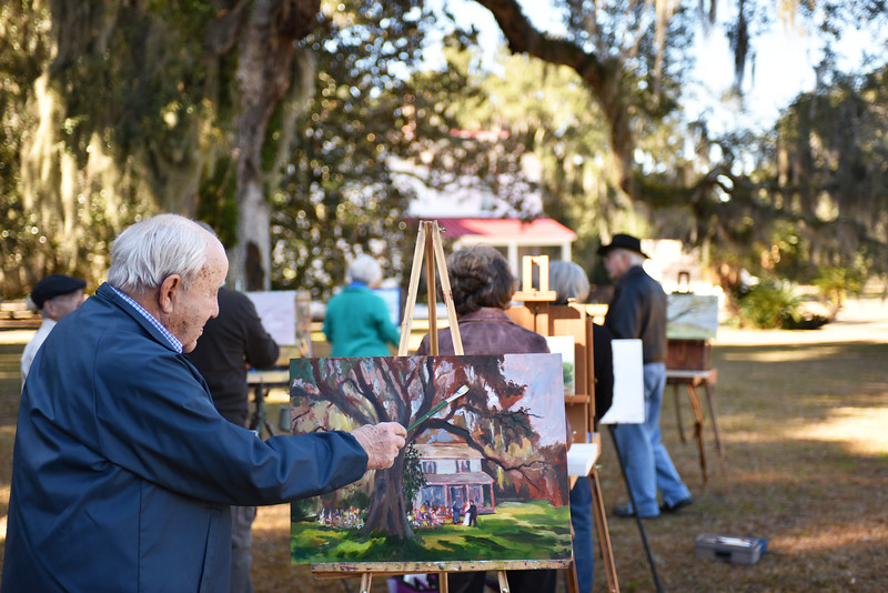 Hofwyl Plein Air Staging for the Golden Isles Magazine 02-07-15