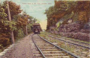 Holyoke Trolley road to Mt Tom