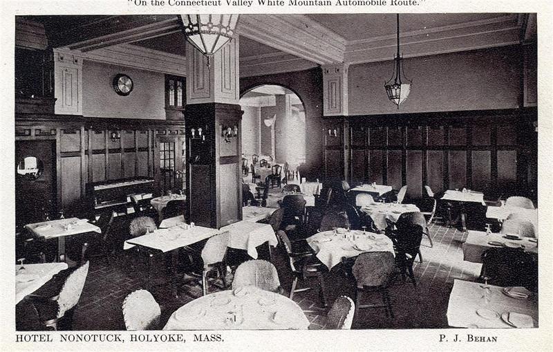 Holyoke Hotel Nonotuck Dining Room