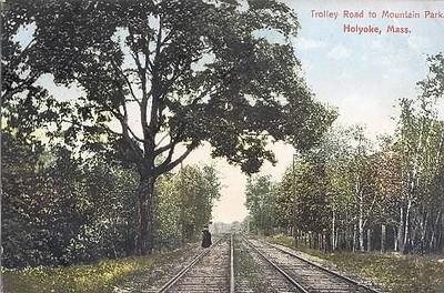Holyoke Trolley track Mt Park