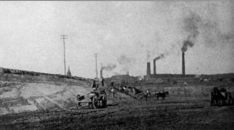 Holyoke Canals being Dug 1853