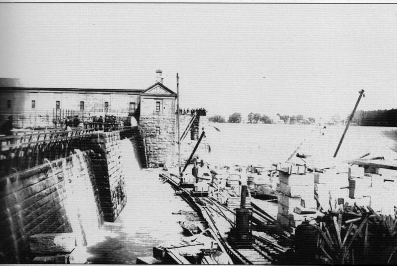 Holyoke City Built around Dam