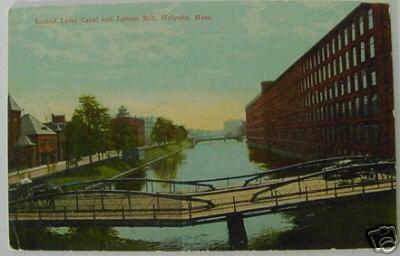 Holyoke 1910 Canal & Lyman Mill