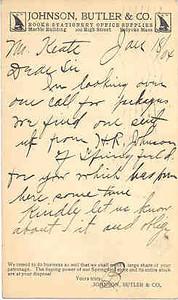 Holyoke Adv Postal Johnson Butler Co