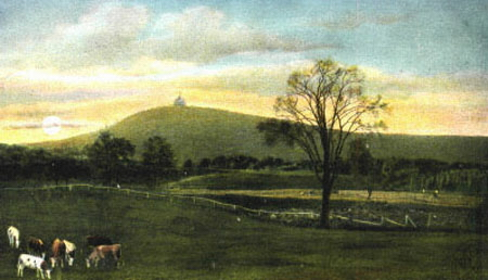 Holyoke Mt Tom in Distance 1