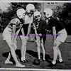 circa 1940s Girls Football Huddle