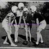 circa 1940s Girls Football Huddle